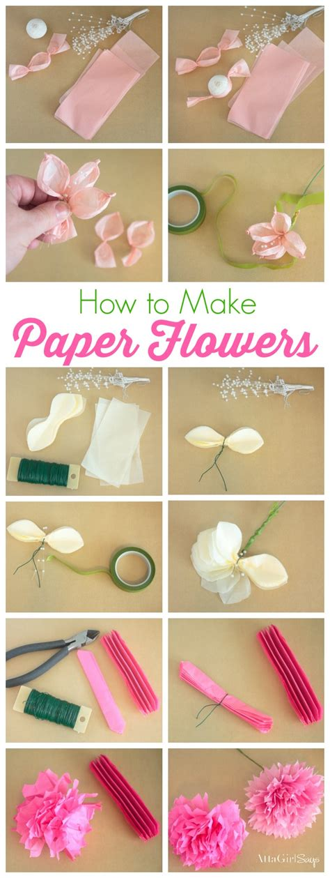 learn paper craft how to make tissue paper flowers tissue paper tutorials