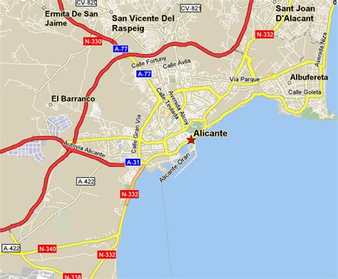 map of alicante area alicante tourism map regional map of spain tourism