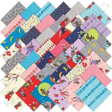 Quilt Fabrics by Moda Monkey Tales Charm Pack Emerald City Fabrics