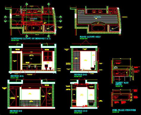 toilet layout dwg cad drawings residential bathroom layout sketch plan 1