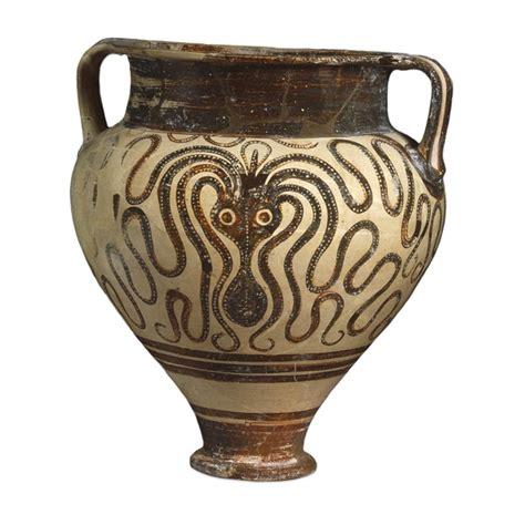 Minoan Octopus Vase by Mycenaean Vase Decorated With An Octopus Illustration