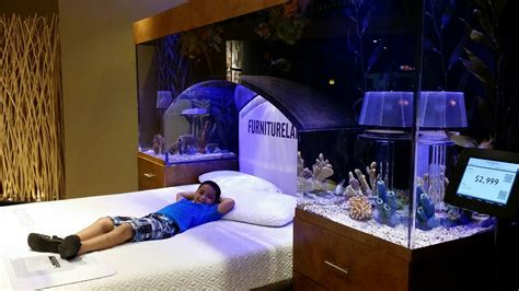 bed aquarium headboard great ideas of fish tank bed for your glamorous bedroom