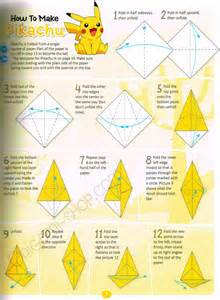 How To Make An Origami Pikachu Step By Step - origami images images