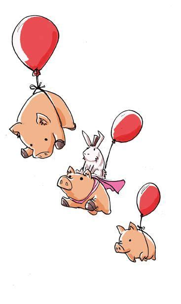 Flying Pigs | chanchitos Flying Pig Drawing