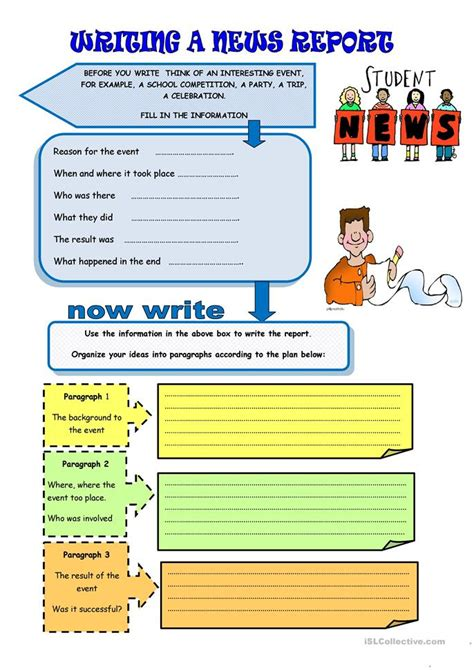 News Writing And Reporting Books by Writing A News Report Worksheet Free Esl Printable Worksheets Made By Teachers