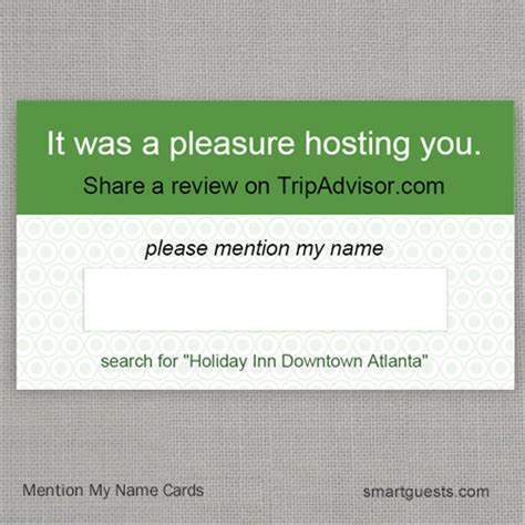 tripadvisor business card template mention my name cards