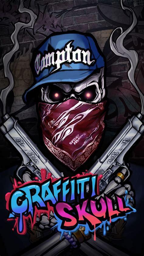 cool graffiti skull wallpaper hip hop style android