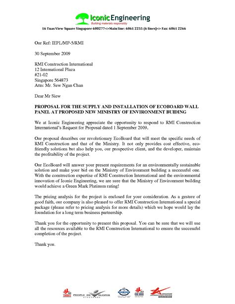 business proposal letter template free proposal templates