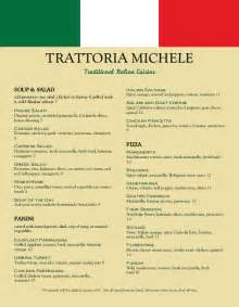 italian restaurant menu templates trattoria italian menu italian menus
