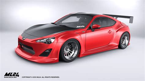 kit scion frs ml24 scion fr s toyota gt86 version 2 wide kit