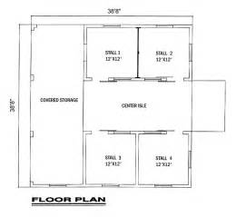 Small Horse Barn Floor Plans by Covered Storage Tack Feed Wash Groom And A Bathroom