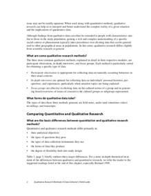 sle methodology section of a qualitative research paper qualitative research report sle 28 images education