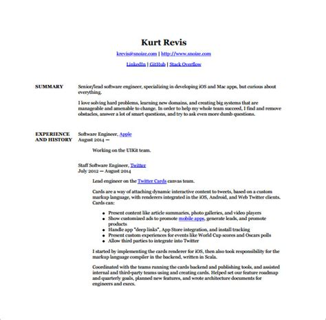 free resume templates for android android developer resume templates 14 free word excel