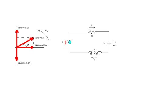 rlc circuit inductor voltage the voltage phasor diagram for a certain rlc circu chegg