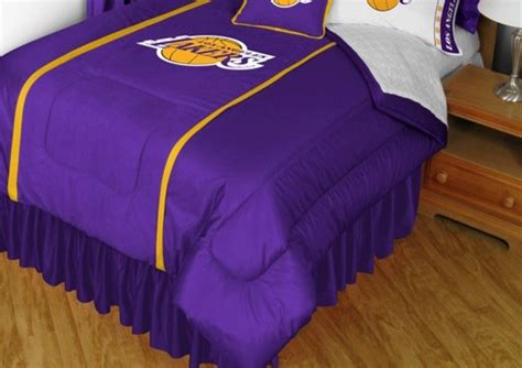 lakers comforter nba los angeles lakers sidelines comforter and sheet set