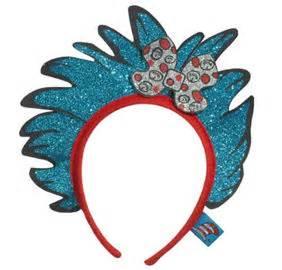 Child glitter thing 1 amp thing 2 hair headband dr seuss