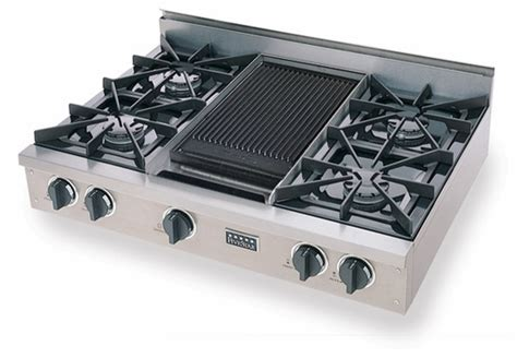 Oven Gas Naga ttn036 7 five 36 gas pro cooktop with 4 open burners reversible grill griddle