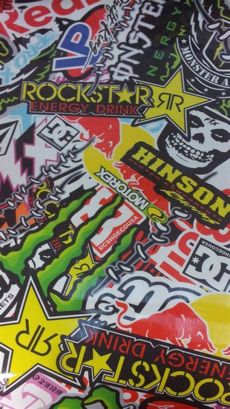 Monster Energy Sticker Wallpapers by Rockstar Monster Red Bull Energy Sticker Bomb Country