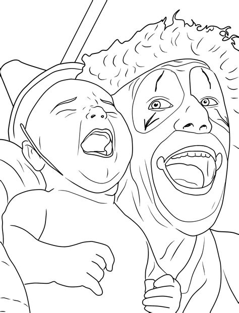 creepy coloring pages adults creepy clown coloring pages coloring home