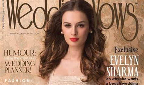 evelyn sharma marriage evelyn sharma is striking on wedding vows april cover
