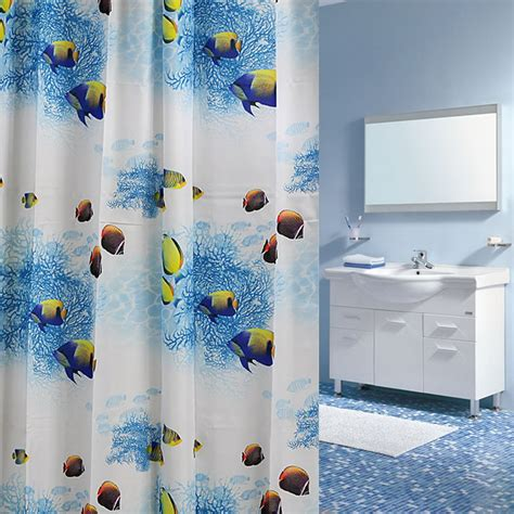 fish fabric shower curtain 3d fish print modern shower curtain waterproof fabric