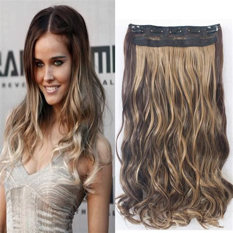hairstyles with one piece extensions new one piece full head 5 clip in hair extensions long