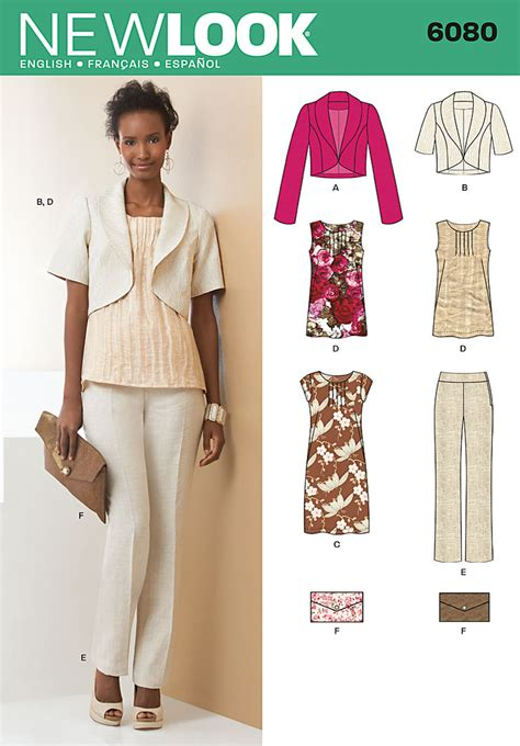 pattern review new look 6080 new look 6080 misses jacket dress or top pants and clutch