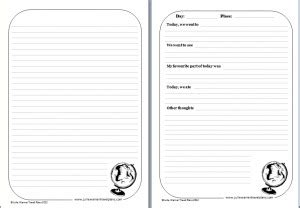 printable travel journal template 7 best images of travel journal printable template free