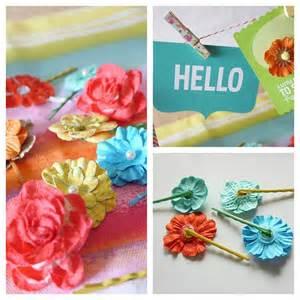 flower hair pins diy gift