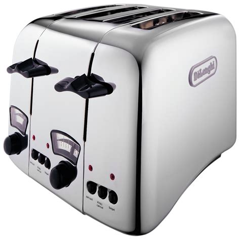 Chrome Toaster Delonghi Argento 4 Slice Retro Toaster Chrome Ct04c