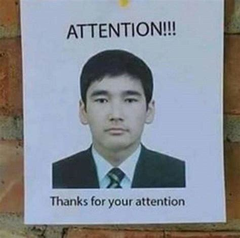 Attention Meme - attention thanks for your attention memes