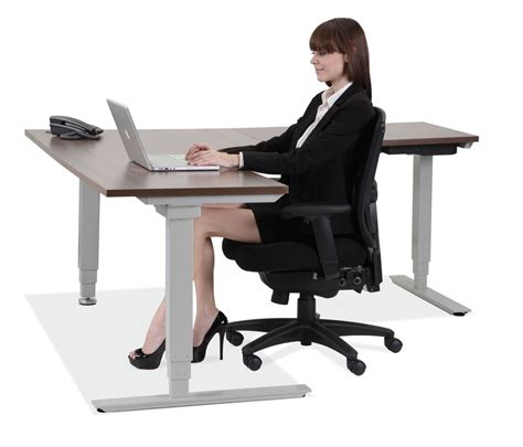 adjustable sitting standing desk standup desks larner s office furniture nc