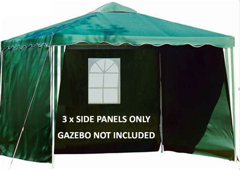 gazebo side panels gazebo 3m replacement side panels walls green window