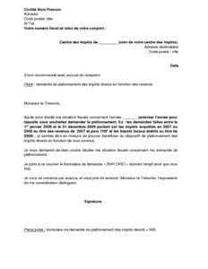 Modeles De Lettre Aux Impots Modele Lettre Impots Sur Le Revenu