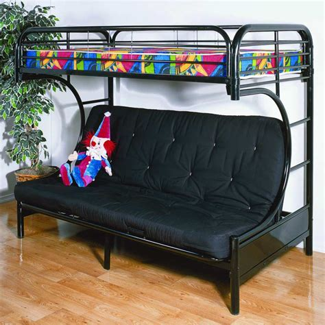 C Futon Bunk Bed by Keagan C Shaped Futon Metal Bunk Bed Gloss