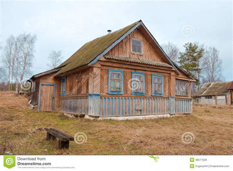 old wooden house in russian village stock photo colourbox old wooden house in the russian village royalty free stock