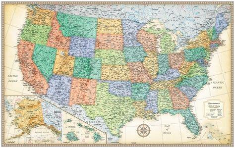 map usa rand mcnally themapstore rand mcnally usa wall map antique style