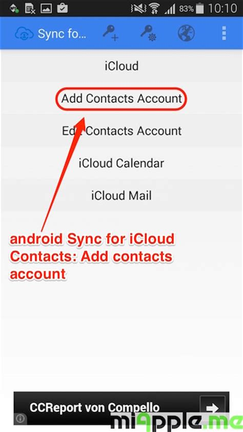 sync contacts with android android sync for icloud contacts 03 add contacts account miapple me