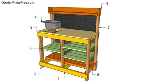 building a potting bench potting bench plans with sink free garden plans how to