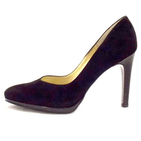 kaiser herdi black suede stiletto court shoes