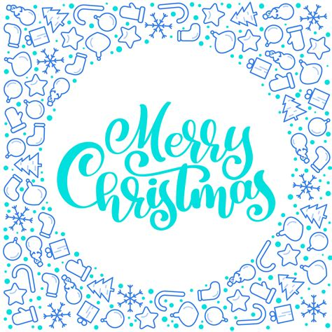 merry christmas calligraphy vector text  xmas atributes lettering design  white
