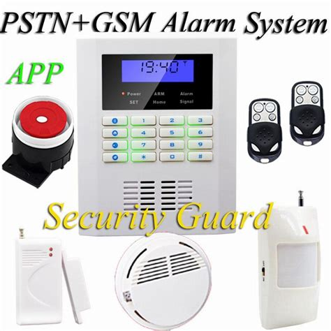 wireless gsm home security alarm system smoke detector