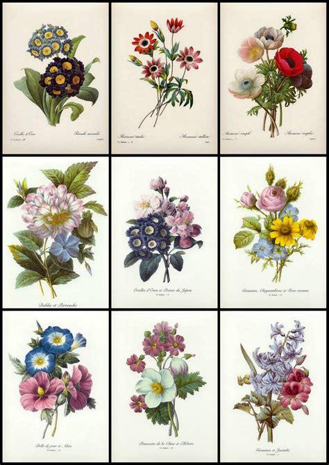 printable vintage flowers artbyjean paper crafts nine little vintage flower