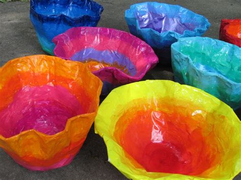 How To Make Paper Mache Bowls - chihuly inspired paper mache bowls lesson plans