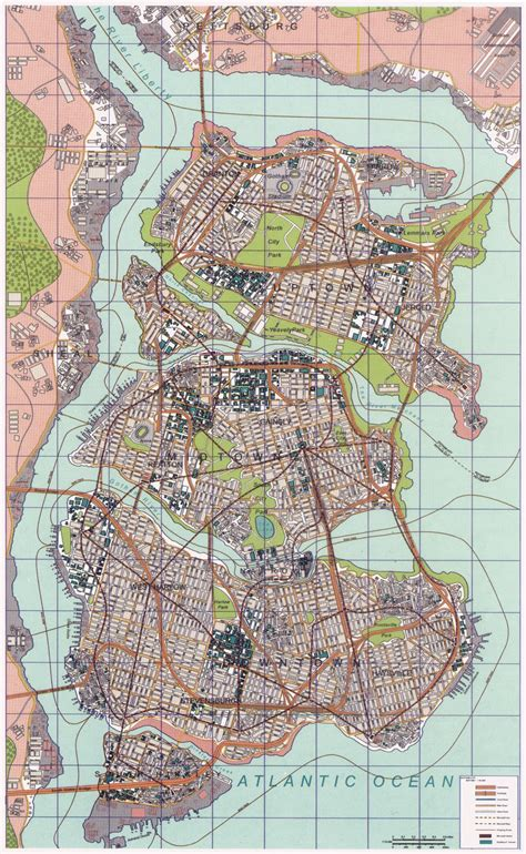 map of city of gotham city map
