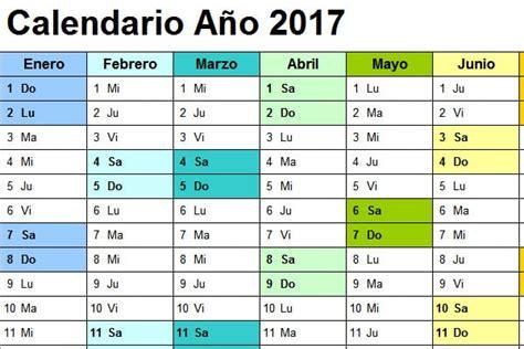 Calendario 2017 Anual Para Imprimir Calendario 2017 Excel Anual Para Imprimir Calendarpedia