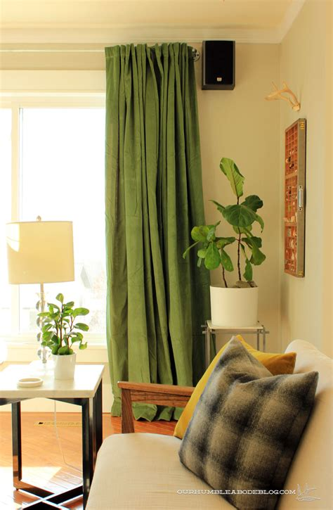 green curtains for living room green with envy