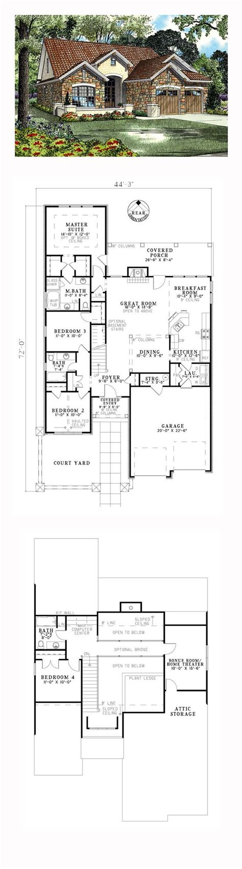 4 Bedroom Tuscan House Plans by 4 Bedroom Tuscan House Plans Www Stkittsvilla