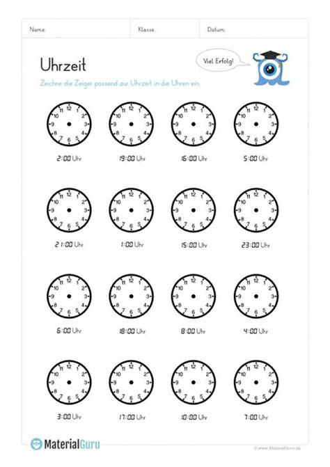 ein kostenloses mathe arbeitsblatt zum uhrzeit lernen auf