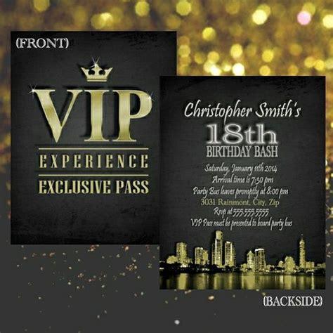 themes vip download vip invitation vip pass birthday by bowersink on etsy 22